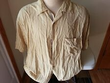Horny Toad yellow short sleeve button down with black stripes - mens large
