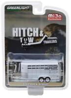 Greenlight 1/64 Hitch & Tow Trailers Livestock Trailer Model White (51212)