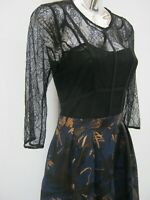 NEXT Lace Corset Style Lined Fit & Flare Party Cocktail Dress Size 6 Immaculate