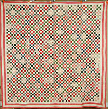 OUTSTANDING Vintage 1880's 9-Patch Antique Quilt ~3,600 Postage Stamp Pieces!