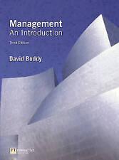 Management: an introduction, Boddy, David, Very Good Book