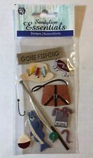 New listing Sandylion Essential Gone Fishing Dimensional Stickers (9pc)