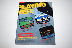 Now You're Playing with Power Nintendo NES 1988 Video Game Catalog Poster Insert