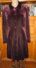 TALBOTS STUNNING RICH DEEP BROWN VELVET DRESS, SZ 10, FLAWLESS!! NEW WITH TAGS!!