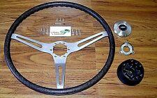 Comfort Grip Steering Wheel 16pc Kit Cushion Black Band 3 Spoke 67 68 Chevy Cars