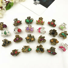 Women Vintage Metal Butterfly Small Mini Hair Clip Claw Clamp Hair Accessories