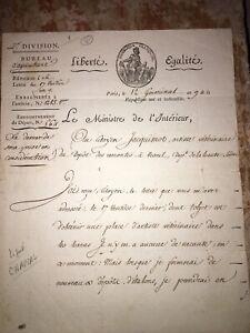 CHAPTAL - LAS de CHAPTAL au citoyen JACQUINOT, vétérinaire. - 1801