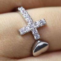Gorgeous Moissanite Ring Anniversary Engagement Birthday Women Jewelry Gift