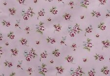 Pink with Flower Cluster Floral 100% Cotton Floral Fabric Sold By the Half metre