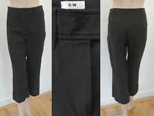 Gerry Weber Hose Damen ¾ Bein Business Bügelfalte Stretch Schwarz 36 XS Top