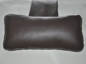 Brown Faux Leather Hanging Armchair Sofa Headrest Bolster Cushion with inner pad
