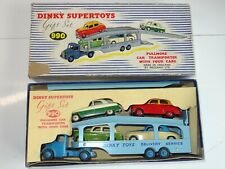 dinky 990 GIFT SET PULLMORE TRANSPORTER & 4 CARS  (219) with packing pieces