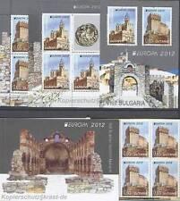 "EUROPA CEPT 2012 ""VISIT"" TOURISMUS  BULGARIEN 5032-33 KLEINBOGEN + BLOCK + MH **"