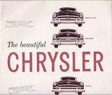 1953 Chrysler Dealership Brochure Windsor New Yorker Imperial