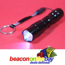 Mini Waterproof CREE LED Flashlight Keyring Aluminum AA Torch Light Gift box