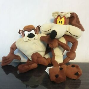 Looney Tunes Wile E Coyote & Taz Plush Soft Toy Boots Warner Bros