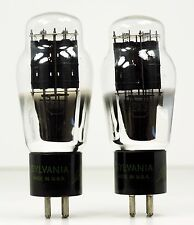 Vintage Matched Pair Sylvania 2A3 Power Tubes - Hickok Tested