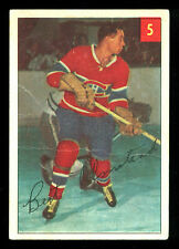 1954 55 PARKHURST HOCKEY #5 BERT OLMSTEAD VG-EX MONTREAL CANADIENS CARD