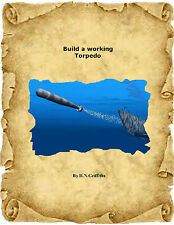 """Model Boat Plans Electric Power 9"""" TORPEDO Plans & Building Instructions"""