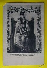 MADONNA DE' MIRACOLI, DETTA DEL BODEN venerata sui Monti di Ornavasso - 1926