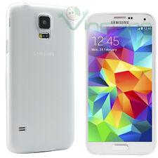 2X Pellicola+Custodia ultra sottile 0,3mm Bianco p Samsung Galaxy S5 SV SM-G900F