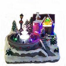 Light Up Village& Fountain With Carol Singers Christmas Decoration