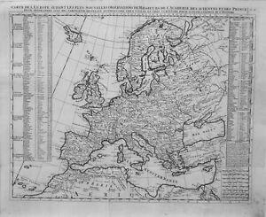 Antique map, Carte de l'Europe