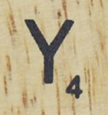 INDIVIDUAL WOOD SCRABBLE TILES! 8 FOR $2, THEN 25 CENTS PER TILE. LETTER Y