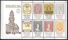 SOUTH AFRICA DURSAPEX 2004 CINDERELLA COMPLETE SOUVENIR SHEET MNH 0993L