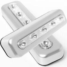 2x Stick On 5 LED SMD Cabinet Shed Kitchen Closet Desk Push Night Strip Light UK
