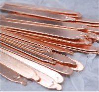 50-130mm Length 1mm Thickness 9mm Width Copper Heatsink Heatpipe Notebook DIY