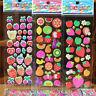 10X 3D Cartoon Sticker Home Decor Decoration toy fruit Cartoon Sticker JK