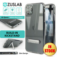 For iPhone 11 Pro Max Case ZUSLAB Ultra Clear Heavy Duty Slim Stand Hard Cover
