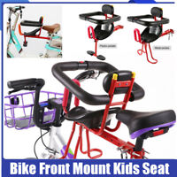 Bicycle Bike Front Seats Safety Child Kids Chair Carrier Rear Baby Seat Handrail