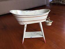Antique Dollhouse Doll Tin Bath tub Tub Made in Germany