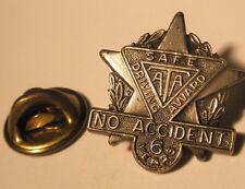 Ata Safe Driving Award 6 Year No Accident Vintage Lapel Pin
