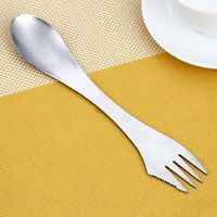 Portable Outdoor Camping Picnic Spoon Fork Stainless Steel Spork Tools
