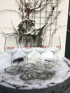 wie kam man bisher  ohne sie aus!  4 x große Lillet Gläser exklusive Cocktail