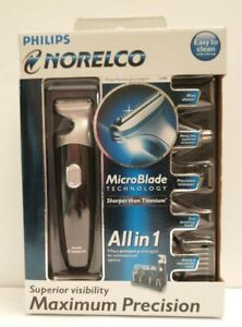 PHILIPS NORELCO G480 All in 1 9 pc. Premium Grooming Kit New Open Box Great Gift