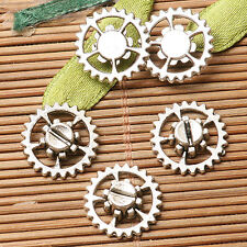 18pcs dark silver color 14mm gear parts  design for jewerly making  EF2800