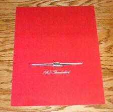 Original 1967 Ford Thunderbird Sales Brochure 67 T-Bird Landau Hardtop