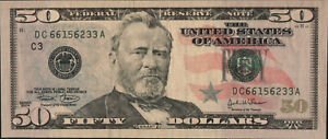 United States 2004 A 50 Dollars Bank Note UNC P522B Forgery note rare