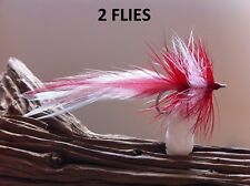 Seaducer Leftys Red and White Fly 2 Flies 34007 #2 smallmouth redfish striper