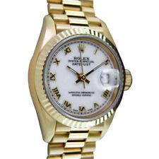 ROLEX - Ladies 26mm 18kt Gold Datejust PRESIDENT White Roman 69178 - SANT BLANC