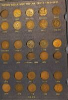 INDIAN HEAD PENNY COLLECTION 1857-1909, 56/60 COINS LOOK CLOSELY NICE GROUP