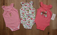 Juicy Couture Baby Girl 3 Piece Tank Top Bodysuit Set ~ Cherries ~ Stripes ~