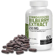 Bronson Standardized Bilberry Extract 250 mg, 60 Capsules