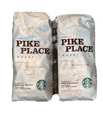 Starbucks Pike Place Medium Roast Whole Bean Coffee 2 1lbs Bags 2 lbs 10/19 1/20
