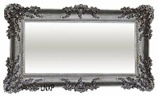 Baroque Antique Wall Mirror with Ornamentation Silver 96x57