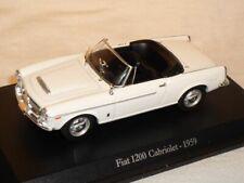 Fiat 1200 Cabrio Cabriolet 1959 Weiss 1/43 De Agostini Modell Auto Modellauto